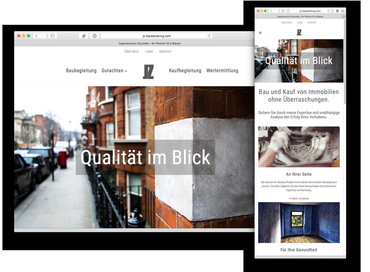 Responsive Webdesign in Frankfurt & Rhein-Main für Ingenieurbüro