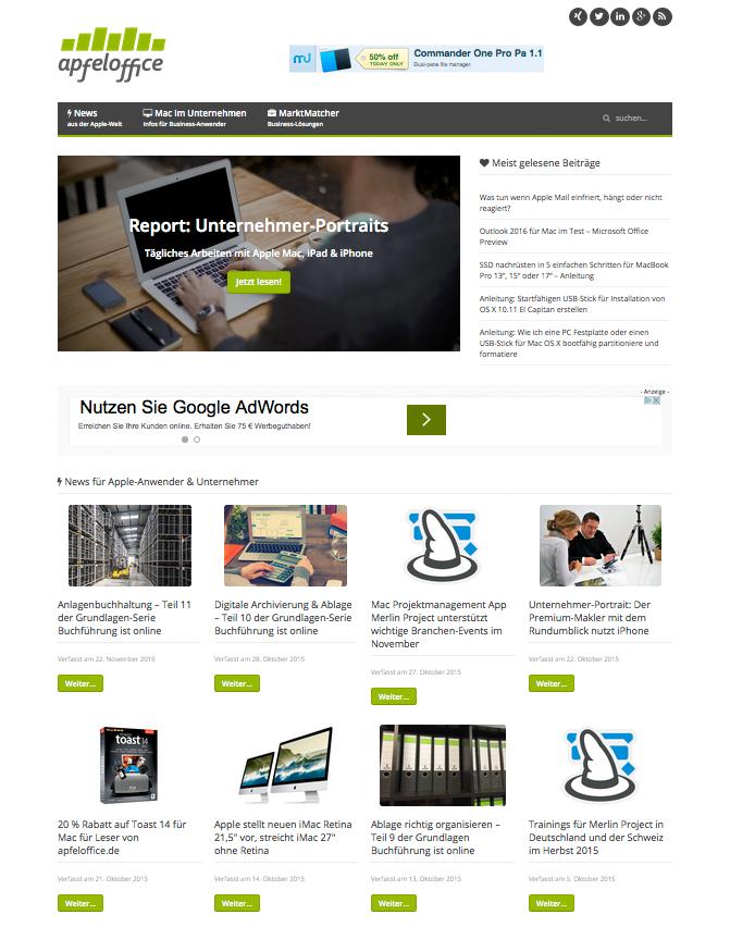 Die neue Startseite von bendetta.biz